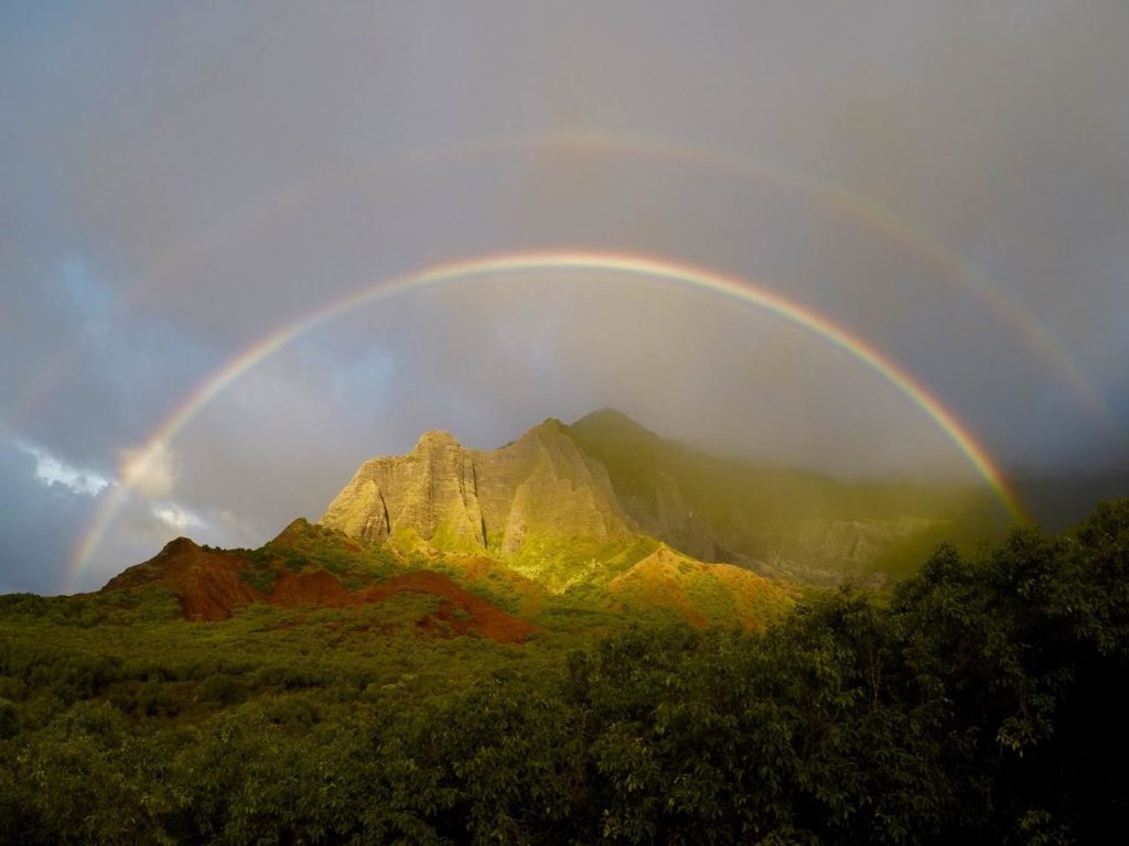 Double Rainbow on Kauai Garden Isle