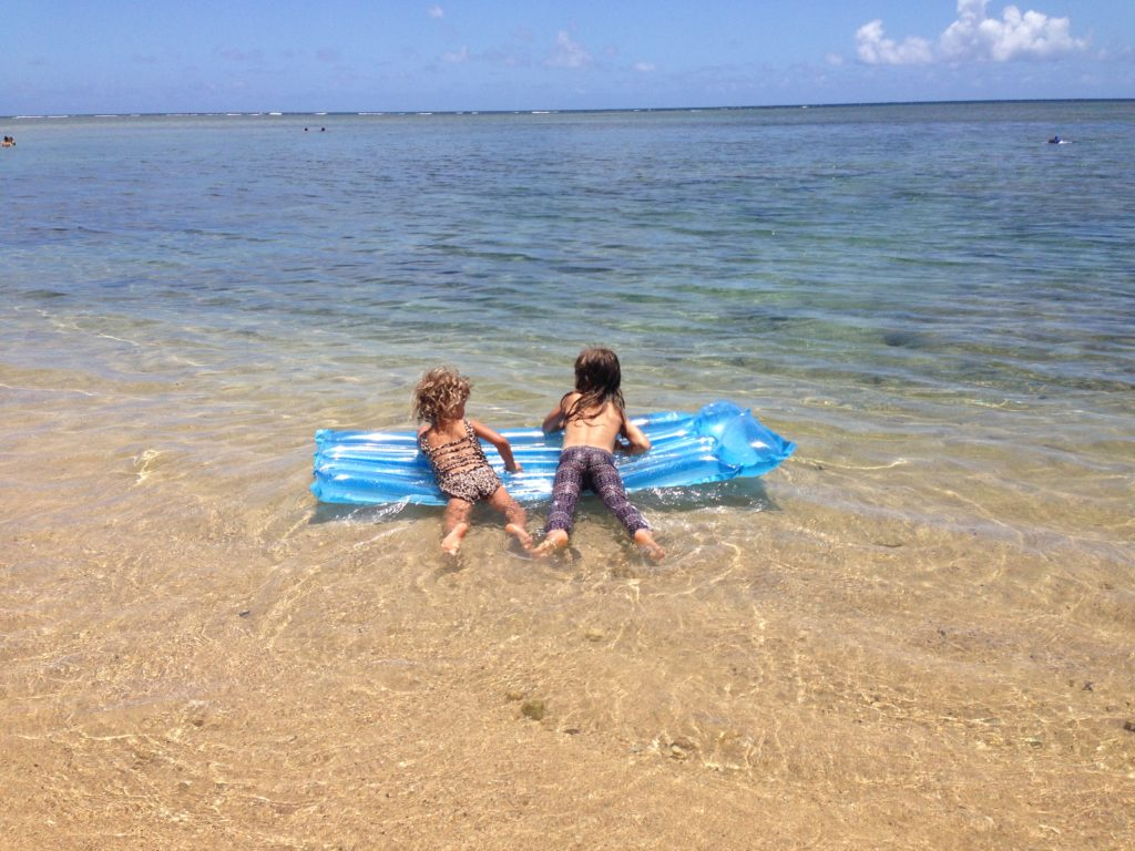 Toddlers at Anini beach