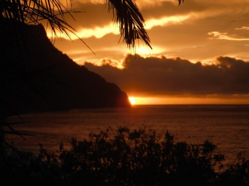 Kauai Sunset over Ke'e
