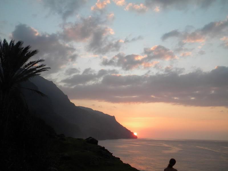 Ke'e Beach Sunset over the Na Pali