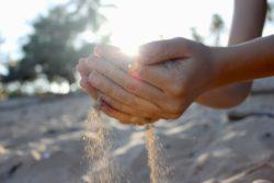 Sunlight through hands Kauai