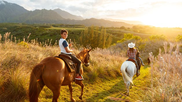 Horseback Riding across Kauai's splendour