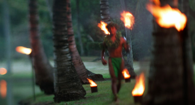 Smith's Luau torch lighting