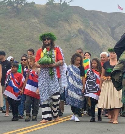 Jason Momoa at Mauna Kea Protectors