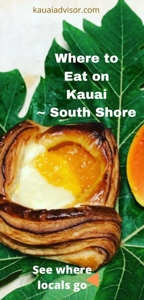 WHere to Eat on Kauai South Shore